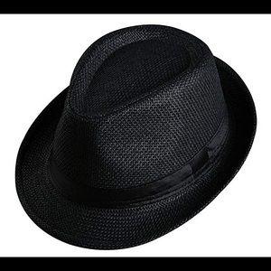 Accessories - BogiWell Unisex Straw Structured Fedora Hat